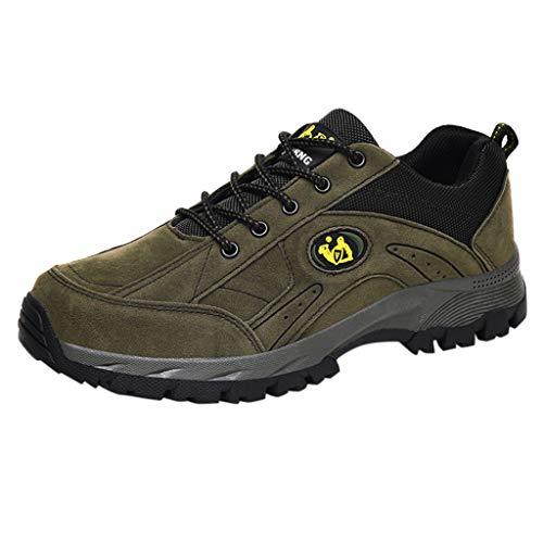 BoyYang Herren Wanderschuhe Outdoor Leichtes Slip On Sneaker Sportschuhe Trekking-& Wanderhalbschuhe Dämpfung Wanderstiefel Laufschuhe, Warm halten Verwenden Sie Samtiger Baumwolle Herstellung