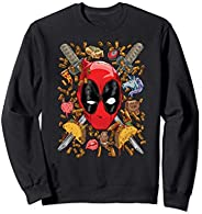 Marvel Deadpool Snacks and Bullets Sweatshirt