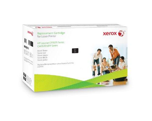 XEROX Original Toner schwarz fuer HP CP3525 alternativ zu CE250X 10.500 Seiten