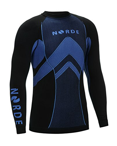 THERMOTECH NORDE Herren Funktionswäsche Thermoaktiv Atmungsaktiv Base Layer SET Outdoor Radsport Running (Schwarz/Grau, XXL) - 6