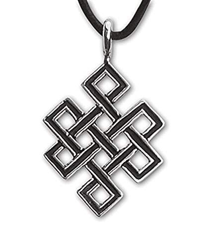Keltischer Anhänger Unendlicher Knoten Silber Schmuck - Starkes Schutzamulett
