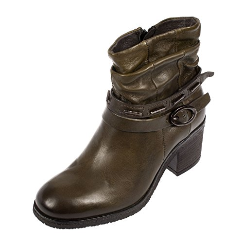 Mjus, Damen Stiefel & Stiefeletten  grün Flechte (Flechte Schuhe)