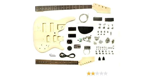 Bausatz für Doppelhals E-Gitarre und E-Bass: Amazon.de: Musikinstrumente