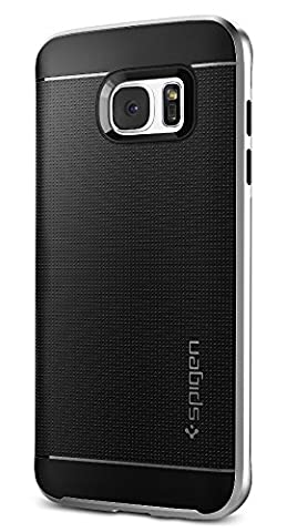 Coque Galaxy S7 Edge, Spigen [Neo Hybrid] PREMIUM BUMPER [Satin Silver] Bumper Style Premium Etui Slim Fit Dual Layer Protective Coque Samsung Galaxy S7 Edge (2016) - (556CS20144)