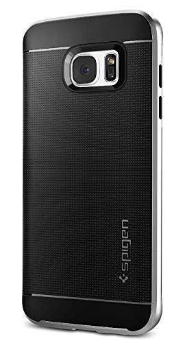 Spigen 556CS20144 - Funda para Samsung Galaxy S7 Edge, color negro y plata