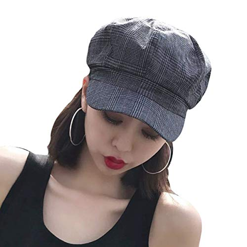 e69d5bc1f34b55 SIYWINA Ballonmütze Damen Schirmmütze Herbst Baskenmützen Winter Bakerboy  Hat