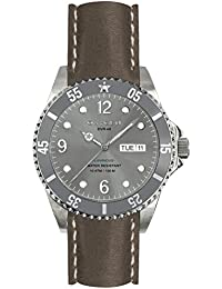 University Sports Press EX-D-ELE-40-CL-GR - Reloj de cuarzo unisex, correa de cuero color gris