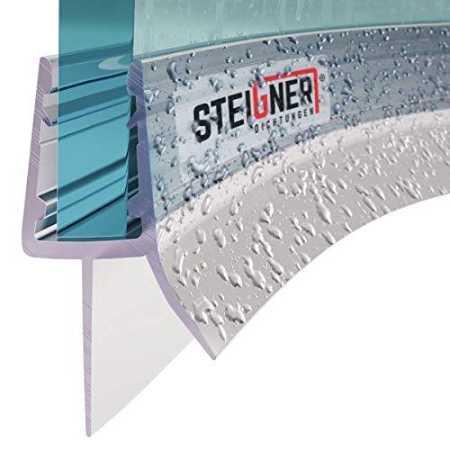 STEIGNER Duschdichtung, 50cm, Glasstärke 6/ 7/ 8 mm, Gebogene PVC Ersatzdichtung für Runddusche, UK03