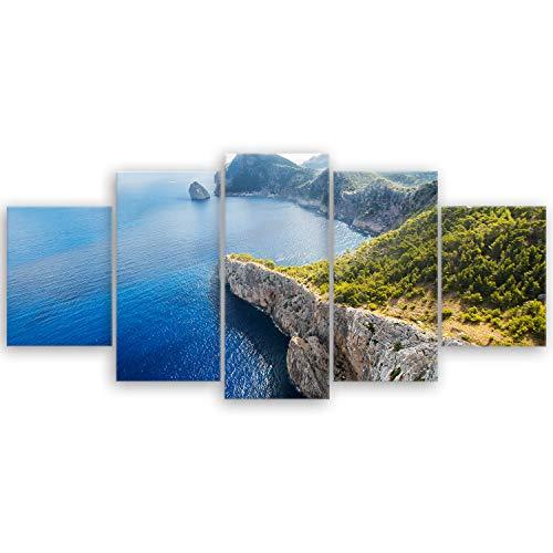 'GE de crea® imagen sobre lienzo con Otoño Descuento 'Mallorca veces Anders–España Natural Mar 2108, 150 x 70 cm 5 tlg.