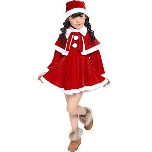 Baby Weihnachten Kleider Kleidung | MEIbax Mädchen Kostüm Partykleider + Schal + Hut Outfit | Weihnachtskostüm Kleinkind Prinzessin Abendkleider| Thanksgiving Deals