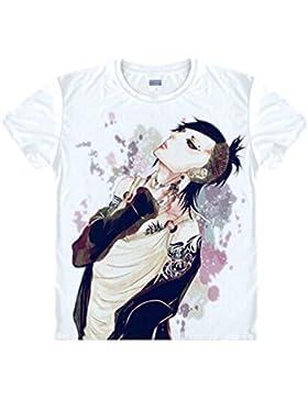 Elecos Tokyo Ghoul Camiseta Anime Disfraz con gedruckter patrón–12patrones–Kiri Shima Touka/bai-300/suzuya...