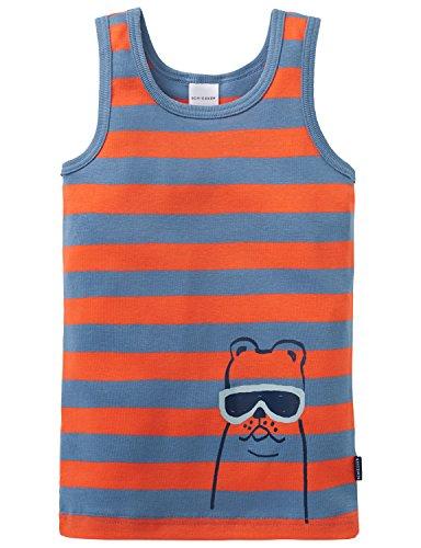 Schiesser Jungen Cool Dogs Hemd 0/0 Unterhemd, Grün (Mineral 709), 104