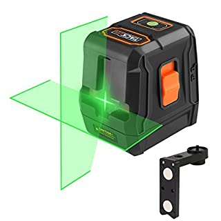 Laser Level, SC-L07G Green Laser Level 30M Self-Leveling Cross-Line Laser Horizontal and Vertical Lines Higher Visibility with Full Soft Rubber Covered, Flexible Magnetic Mount Base, Carrying Pouch