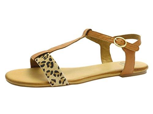 CAPRICE 9–9- 28106–24 391, sandales femme Marron - CAMEL/LEO