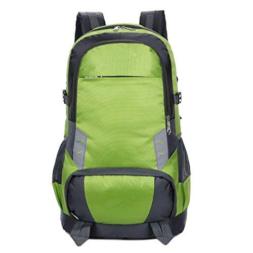 LQABW Schulter Male Reise Multisportreise Große Kapazitäts-Multifunktionswasserdicht Praktische Mountaineering Rucksack Tasche Green