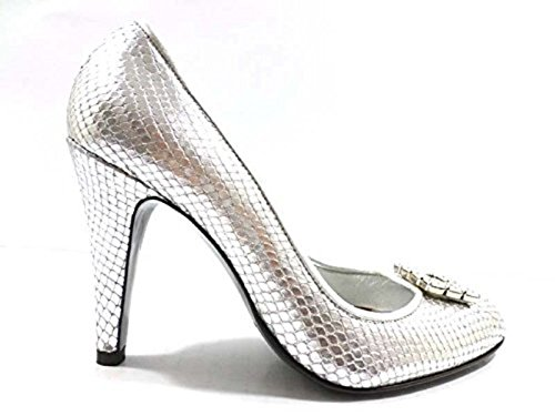 scarpe donna RICHMOND 36 EU decoltè argento pelle WH293