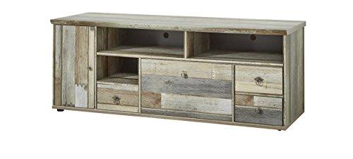 Stella Trading Bonanza Lowboard, TV-Bank, Holz, braun, (B/H/T) 62 x 52 x 162 cm