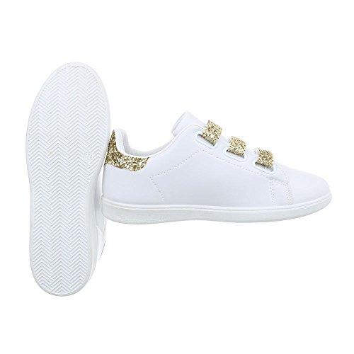 Sneakers bianche con chiusura velcro per donna Minetom qIk0Ib