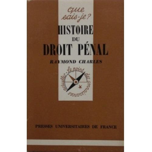 Histoire du droit pénal (Que sais-je)