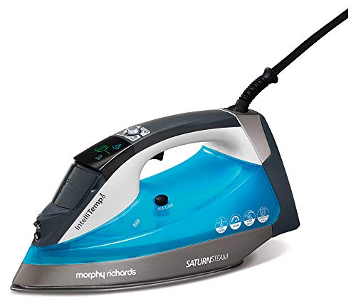 Morphy Richards 305003 Steam Iron with Intellitemp No Burns Guaranteed, 2400 W, 350 milliliters, Blue Best Price and Cheapest