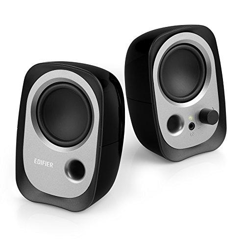 edifier pc lautsprecher Edifier R12U BK USB-Lautsprecherset (Bassreflex-Port, Kopfhöreranschluss, integrierter Lautstärkeregler) schwarz