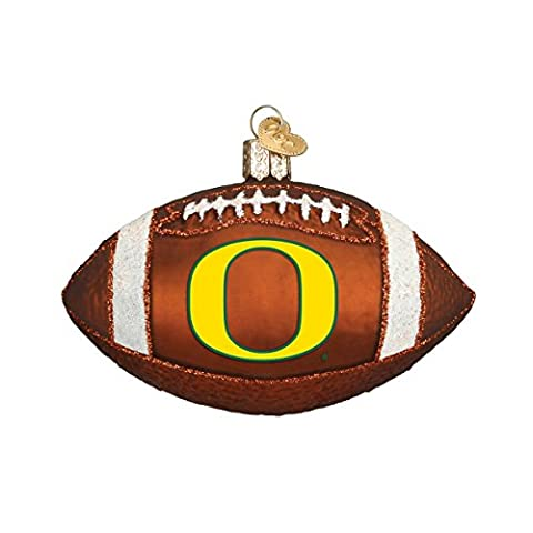 Old World Christmas Oregon Football Glass Blown Ornament