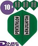 ABC Darts Unisex - Adulto Pentathlon Classic Dart Flights, Verde, Classico