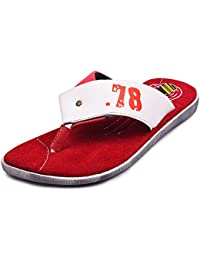 Twin QQ-585 and QQ-584 children comfort flip flop - red/white colours