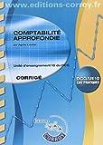 Comptabilité approfondie Corrigé - UE 10 du DCG