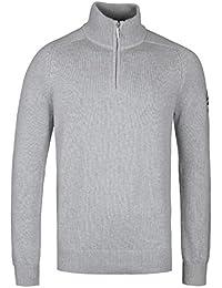 Henri Lloyd Berson Gym Grey Regular Half Zip Knitted Sweater