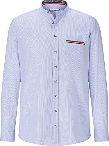 Shirt Master Herren Hemd Frenchshirt (Langarm-Hemd, Streifen-Hemd) blau 3XL (XXXL) - 47/48 -