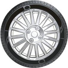 Oshotto Premium OSHO-WC199C 14-inch Black Chrome Finish Universal Fitting-Push Type Car Wheel Cover (Set of 4)