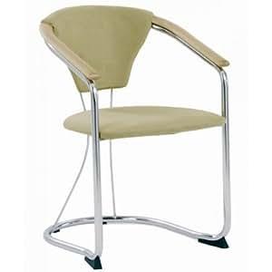 armlehnstuhl cordoba cappucino cocktailsessel chrom schwingstuhl mit armlehne k che. Black Bedroom Furniture Sets. Home Design Ideas