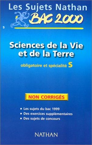 Bac SVT, terminale S, non corrigés, 1999-2000