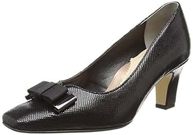 Van Dal Women's Kett Closed Toe Heels, (Black Reptile Print), 3 UK 36 EU