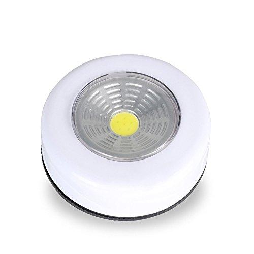 TOOGOO COB LED Schnurlose Stick Küchen Wasserhahn Kleiderschrank Touch Licht Lampe 3W (1Stück) White(1pcs) (Stick Up-leuchten Für Schränke)