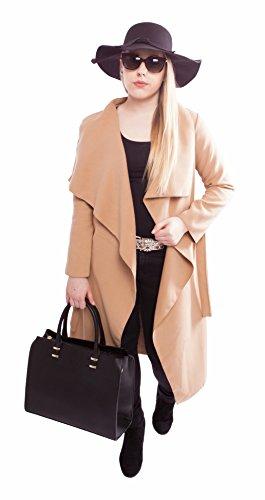 Damen Handtasche Schultertasche Tasche Large Umhängetasche Entwerfer Shopper Henkeltasche, Neu (Schwarz) - 7