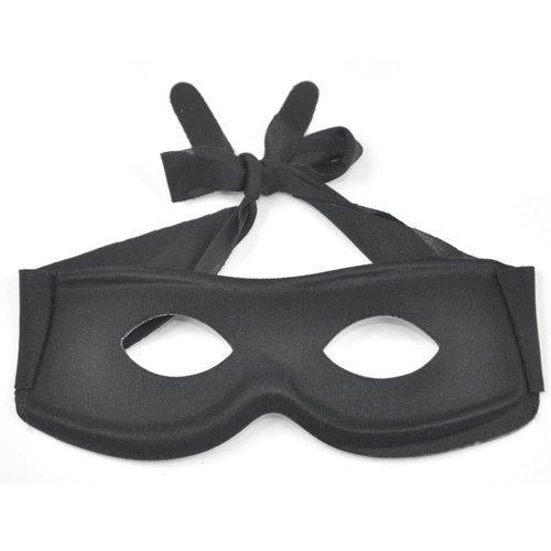 Beyondfashion Halbschuhe Kostüm/Masquerade Bandit Zorro Schwarz Maskenball Augen Maske/Augenmaske mit Lone Ranger
