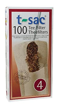 T-Sac Tea Filter Bags, Disposable Tea Infuser, Number 4-Size, 6 to 12-Cup Capacity, 100 Count