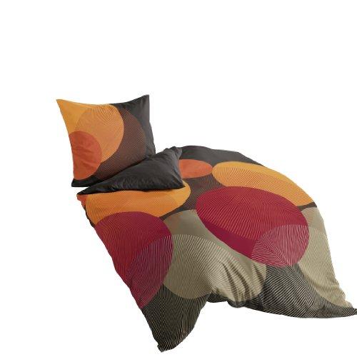 Bierbaum Bettwäsche 6155, Mako-Satin, Made in Germany, kakao 09, 200x200 + 2x 80x80 cm, für das Doppelbett
