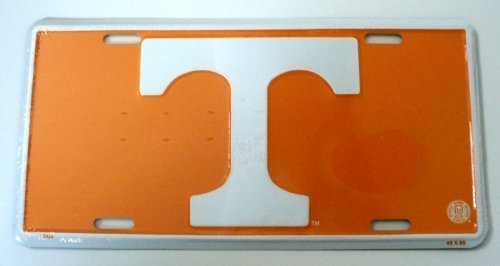 University of Tennessee T NCAA License Plate by Columbus Novelties