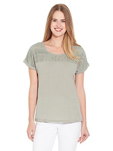 Balsamik - Tee-shirt, détails guipure - femme Kaki