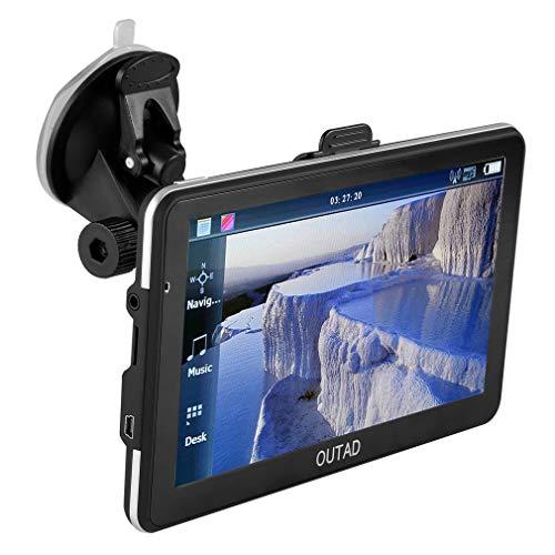 Auto Navigation, OUTAD 7 Zoll Touchscreen Navigationsgeräte für Auto, Wiederaufladbare LKW PKW Fahrrad Navi GPS, mit 8GB EU Maps 48 Länder und Lebenslang Kostenloses Kartenupdate mit POI Sprachführung