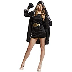 My Other Me Me - Disfraz de boxeadora para mujer, M-L, color negro (Viving Costumes 203345)