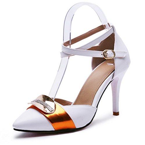 Misti Voguezone009 Bianco Anello Mixed Colori Donna Stilo Materiali Scarpe Affilato Leggere rEWEFzHnwq