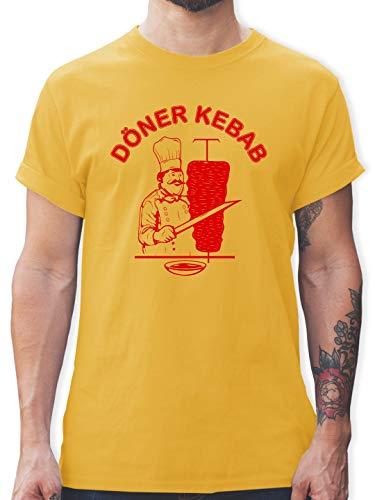Statement Shirts - Original Döner Kebab Logo - M - Gelb - L190 - Herren T-Shirt und Männer - Toast Mann Kostüm