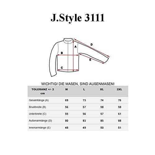 BOLF Herrenjacke Herrenmode Steppjacke ohne Kapuze Übergangsjacke J.STYLE 3111 Schwarz