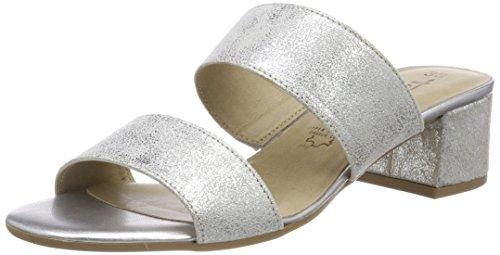 Tamaris Damen 27231 Pantoletten, Silber (Silver Metall.), 37 EU