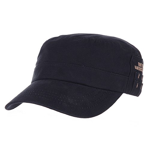 withmoons-militaire-casquette-de-baseball-cadet-cap-cotton-twill-side-embroidery-adjustable-hat-cr42