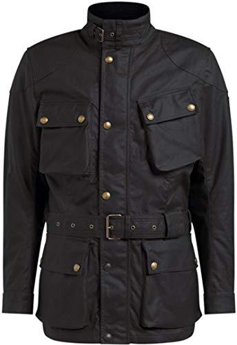 Belstaff Motorradschutzjacke, Motorradjacke Trialmaster Pro Textiljacke schwarz M, Herren, Chopper/Cruiser, Ganzjährig, Baumwolle